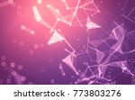 abstract polygonal space low... | Shutterstock . vector #773803276