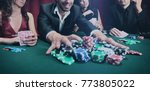 stylish man wins in the casino | Shutterstock . vector #773805022