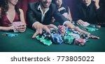 stylish man wins in the casino   Shutterstock . vector #773805022