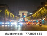 a night view of the traffic at... | Shutterstock . vector #773805658