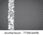 snowflake border for christmas... | Shutterstock .eps vector #773816698