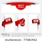 original style red tags with... | Shutterstock .eps vector #77381962