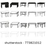 vector  isolated sketch of a... | Shutterstock .eps vector #773821012