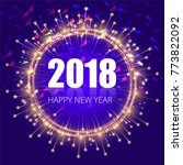 modern new year 2018 background   Shutterstock .eps vector #773822092