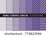 ultra violet diagonal and... | Shutterstock .eps vector #773822986