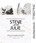 wedding invitation card... | Shutterstock .eps vector #773827942
