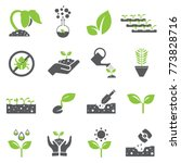 plant icon set and sprout... | Shutterstock .eps vector #773828716