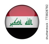 iraq flag in glossy round... | Shutterstock .eps vector #773828782