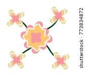 flowers leaves decoration...   Shutterstock .eps vector #773834872