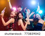 young group enjoying party and... | Shutterstock . vector #773839042