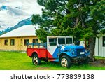vintage truck on a background... | Shutterstock . vector #773839138
