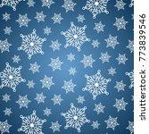 snowflakes pattern vector...   Shutterstock .eps vector #773839546