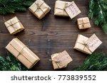 secret santa christmas game....   Shutterstock . vector #773839552