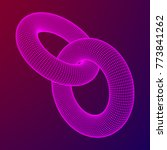 wireframe polygonal element. 3d ... | Shutterstock .eps vector #773841262