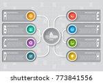 vector abstract 3d paper... | Shutterstock .eps vector #773841556