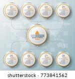 vector abstract 3d paper... | Shutterstock .eps vector #773841562