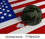3d Illustration Of A Us Flag ...
