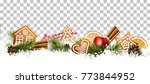christmas border with fir... | Shutterstock .eps vector #773844952