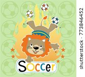 vector cartoon of soccer...   Shutterstock .eps vector #773846452