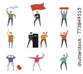 people who demonstrate in a...   Shutterstock .eps vector #773849515