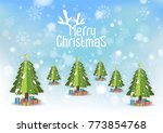 merry christmas and happy new... | Shutterstock .eps vector #773854768
