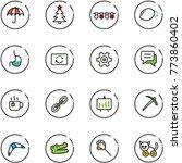 Line Vector Icon Set  ...