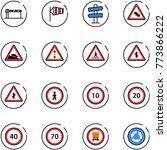 line vector icon set   barrier... | Shutterstock .eps vector #773866222