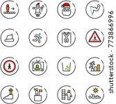 line vector icon set  ... | Shutterstock .eps vector #773866996