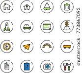 line vector icon set   home... | Shutterstock .eps vector #773867092