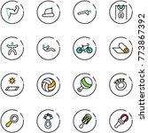 line vector icon set   power... | Shutterstock .eps vector #773867392