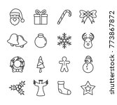 christmas line icon for card... | Shutterstock .eps vector #773867872