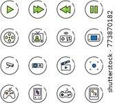 line vector icon set   play...   Shutterstock .eps vector #773870182