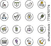 line vector icon set   baby... | Shutterstock .eps vector #773870776