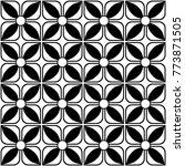 seamless batik pattern tile in... | Shutterstock .eps vector #773871505