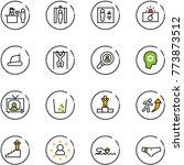 line vector icon set   passport ... | Shutterstock .eps vector #773873512