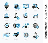 financial and business icon set ... | Shutterstock .eps vector #773875765