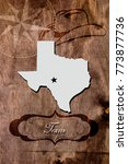 poster texas state map outline
