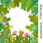 leaves nature background...   Shutterstock .eps vector #773877826
