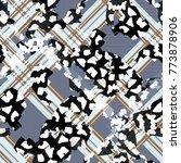 seamless pattern tartan design. ... | Shutterstock . vector #773878906