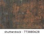 metal texture with scratches... | Shutterstock . vector #773880628
