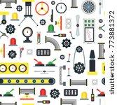 cartoon machine part seamless... | Shutterstock .eps vector #773881372