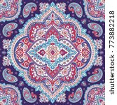 indian rug paisley ornament... | Shutterstock .eps vector #773882218