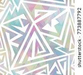 pastel color geometric seamless ... | Shutterstock .eps vector #773887792