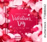 happy holidays  valentines day...   Shutterstock .eps vector #773888362