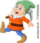 happy dwarf miner | Shutterstock .eps vector #773900686
