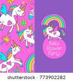 magical unicorns. cute design...   Shutterstock .eps vector #773902282