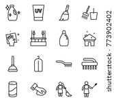 thin line icon set   cleanser ... | Shutterstock .eps vector #773902402