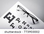 poor eyesight. cracked glasses... | Shutterstock . vector #773903002