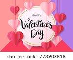 happy valentine's day design... | Shutterstock .eps vector #773903818