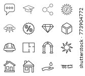 thin line icon set   message ... | Shutterstock .eps vector #773904772